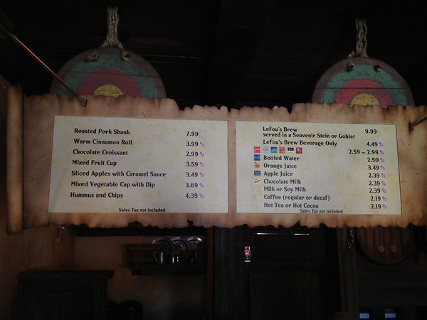 Gaston's Tavern Full Menu