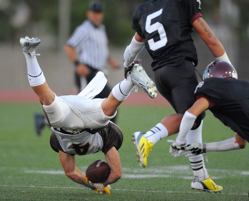 . West High takes on Torrance in a non league football game at Zamperini Stadium in Torrance, CA on Thursday, September 12, 2013. West\'s Dale Rouse. (Photo by Scott Varley, Daily Breeze)