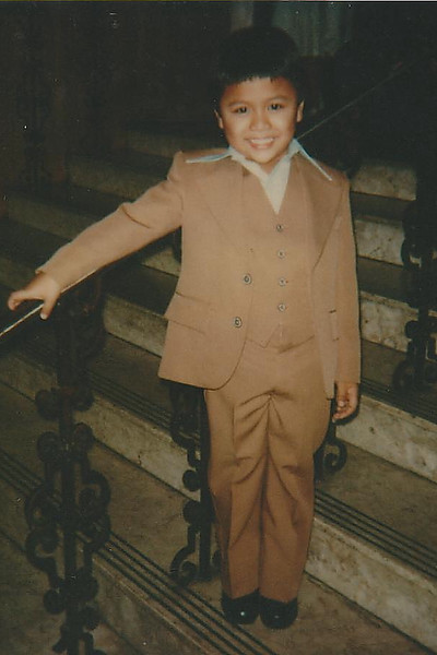 Chad Soriano at his First Holy Communion