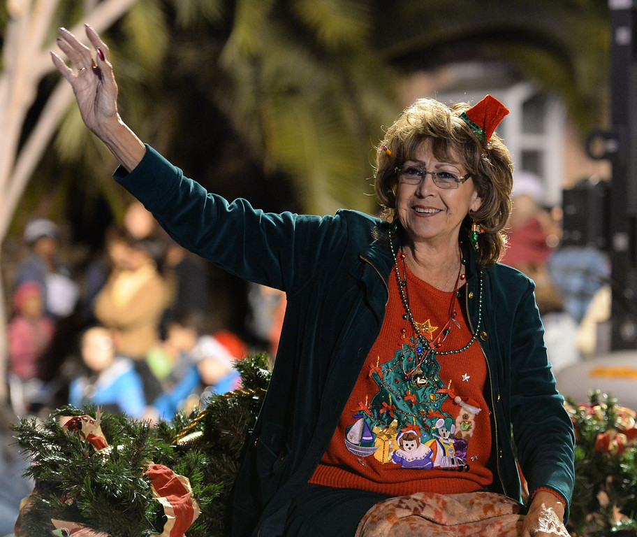. The 60th annual Daisy Avenue Parade in the Wrigley neighborhood Saturday, December 13, 2013, in Long Beach, CA.    Maria Norvell, the Mother of the Christmas Tree Lane, is responsible for the parade each year. Photo by Steve McCrank/DailyBreeze