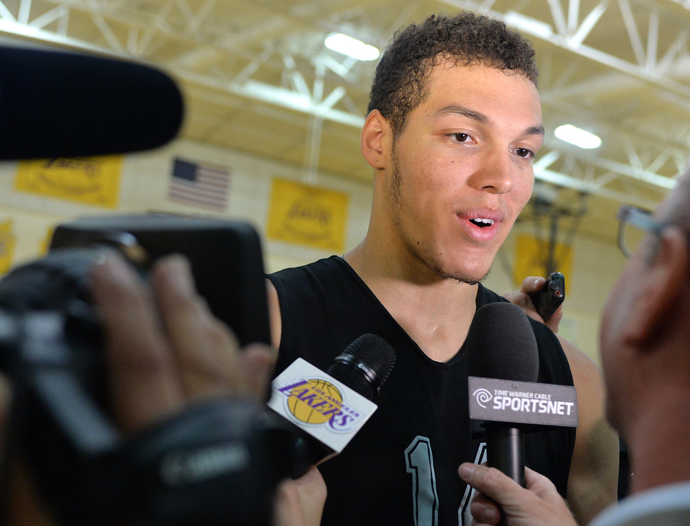 . Lakers host potential draft picks for workouts at Toyota Sports Center in El Segundo Friday June 20, 2014. Aaron Gordon / Univ of Arizona.     Photo By  Robert Casillas / Daily Breeze