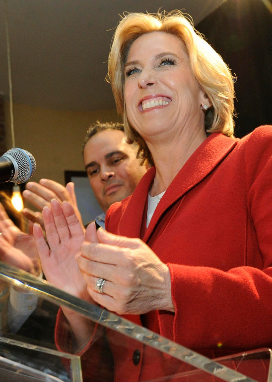 . Wendy Greuel held her election night party at the Los Angeles Brewing Company in downtown Los Angeles, CA 3/5/2013(John McCoy/Staff Photographer)