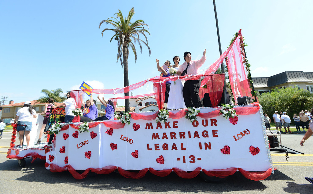 . Long Beach, Calif., -- 05-19-13- The 30th Annual Long Beach Gay and Lesbian Pride Parade along Ocean Boulevard Sunday.    Stephen Carr/  Los Angeles Newspaper Group