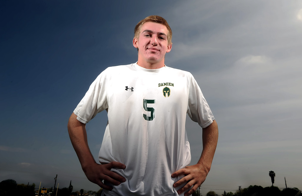 . Soccer player of the year Brett Jenkins at Damien High School on Wednesday, March 27, 2013 in La Verne, Calif.  (Keith Birmingham Pasadena Star-News)