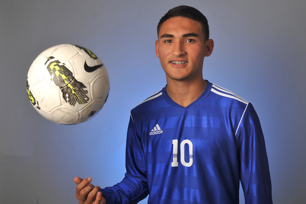 . Christian Roldan from El Rancho High School was selected as the Whittier Daily News All-Area Boys Soccer Player of the Year on Wednesday March 27, 2013. (SGVN/Staff Photo by Keith Durflinger)