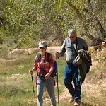 Nancy and Dale on the trail