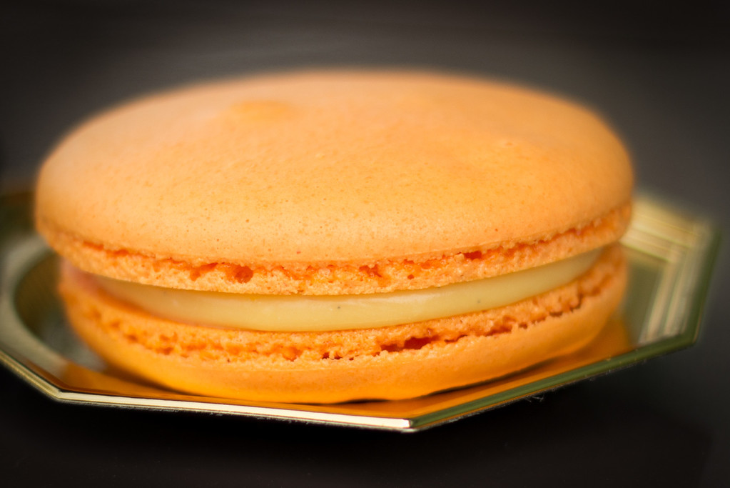 Orange Blossom Macaron with White Chocolate Ganache