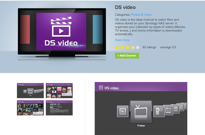 Synology DS Video Station Roku Channel