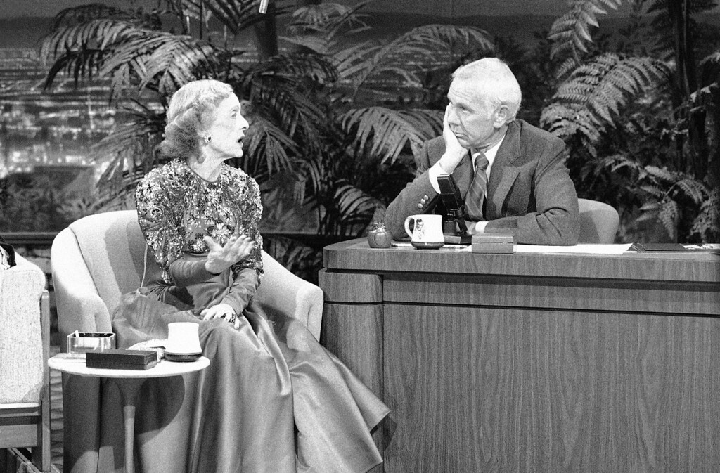 . Legendary actress Bette Davis appears on the �Tonight Show� with Johnny Carson, May 22, 1986. (AP Photo)