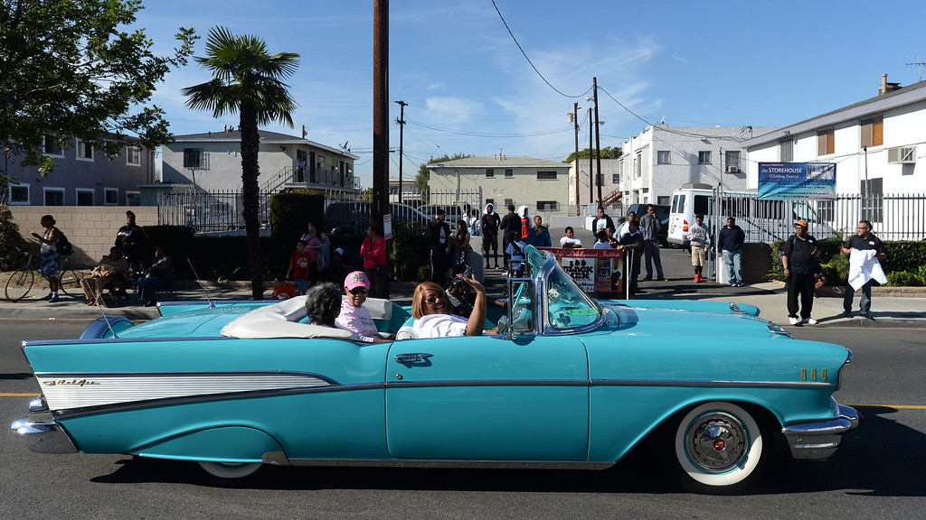 . The 26th Annual Martin Luther King, Jr., Peace & Unity Parade Saturday, January 18, 2014, Long Beach, CA.   Classic cars make their way up the parade route. Photo by Steve McCrank/Daily Breeze