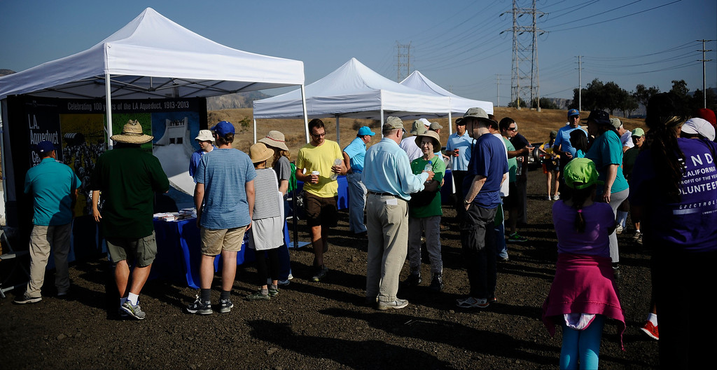 . Local people attend the second LADWP Reservoir Walk Saturday morning in Sylmar CA. July 27,2013. Photo by Gene Blevins/LA DailyNews