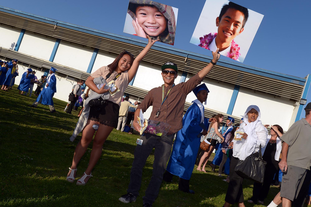 . The 2013 North High School commencement ceremonies take place on the school\'s football field in Torrance Wednesday afternoon.