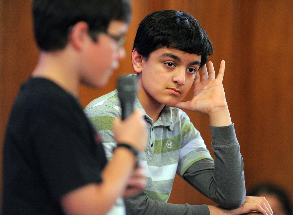 . LONG BEACH - 03/03/2013  (Photo: Scott Varley, Los Angeles Newspaper Group)  Long Beach activist Justin Rudd held his 12th Annual $1,000 National Spelling Bee competition Sunday at the Bay Shore Church in Belmont Shore. 49 school children from grades 3-5 entered the contest and they came from as far away as Fremont and Las Vegas. The $1,000 winner was Arjav Rawal, a 5th grade homeschooled student from Fremont.