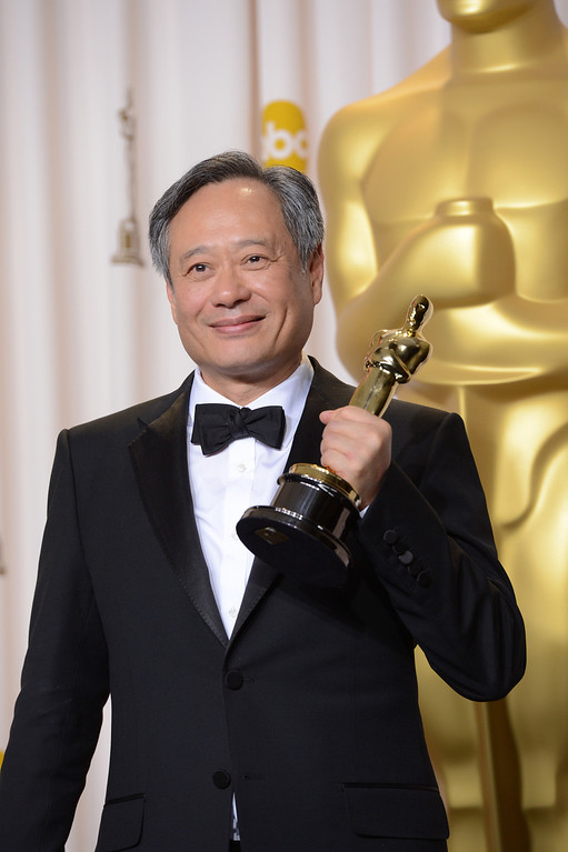 ". Ang Lee poses with his award for best directing for ""Life of Pi\"" backstage at the 85th Academy Awards at the Dolby Theatre in Los Angeles, California on Sunday Feb. 24, 2013 ( David Crane, staff photographer)"