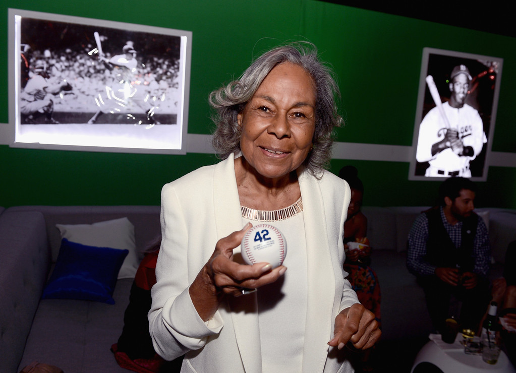 Description of . HOLLYWOOD, CA - APRIL 09:  Widow of baseball player Jackie Robinson, Rachel Robinson attends the after party for the Los Angeles premiere of Warner Bros. Pictures' and Legendary Pictures'