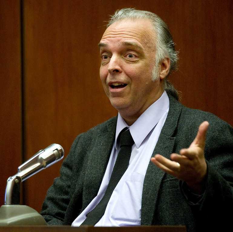 . Steve Biodrodski,  testifying at the murder trial of Christian Karl Gerhartsreiter,  at Clara Shortridge Foltz Criminal Justice Center in Los Angeles Tuesday, March 26, 2013. He has pleaded not guilty to the killing of John Sohus, 27, who disappeared with his wife, Linda, in 1985 while Gerhartsreiter was a guest cottage tenant at the home of Sohus\' mother, where the couple lived.