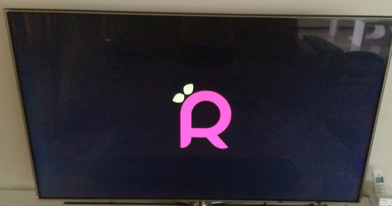 Raspbmc Logo on TV
