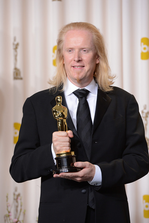 Description of . Paul N.J. Ottosson accepts the award for best sound editing for