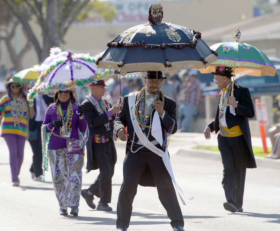 . The 26th Annual Martin Luther King, Jr., Peace & Unity Parade Saturday, January 18, 2014, Long Beach, CA.   Members of LALA (Lousiana to Los Angeles) march in the parade. Photo by Steve McCrank/Daily Breeze