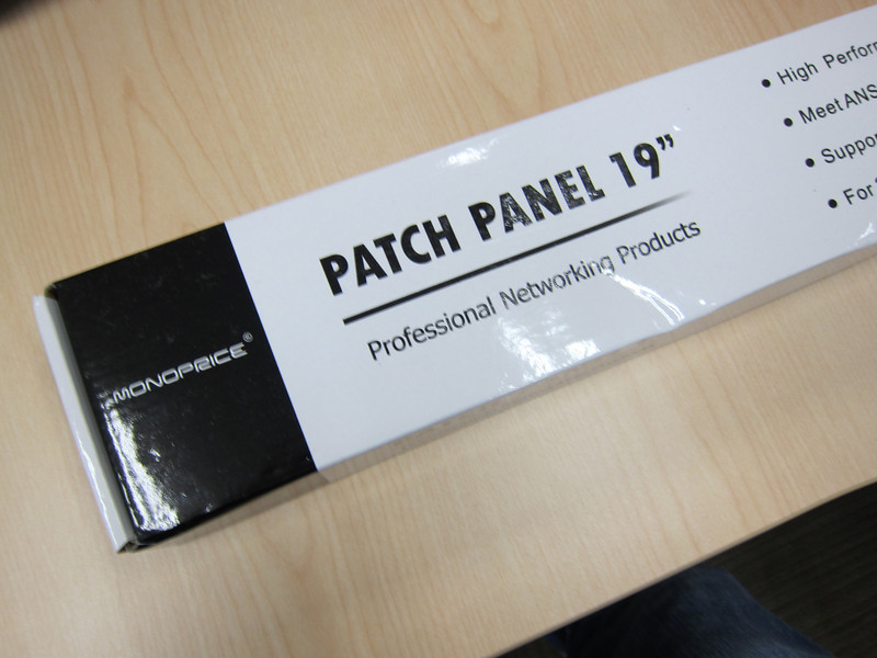 Monoprice Cat6 Patch Panel 110 Type 24 Ports