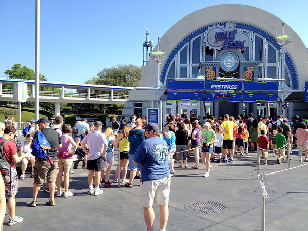 Space Mountain FastPass line!