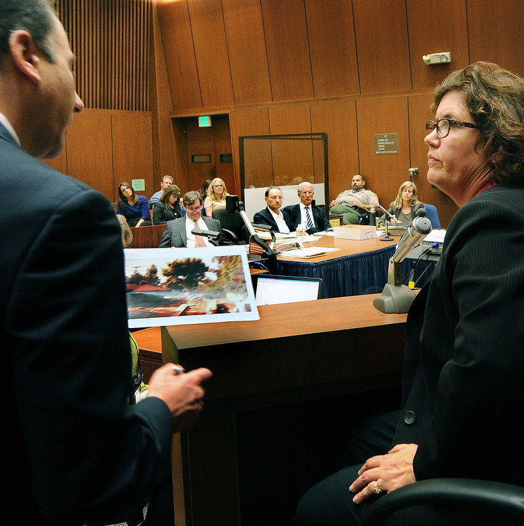 Description of . Prosecutor Habib Balian, interviewing Dana Farrar, one of the witnesses called to the stand at the murder trial of Christian Gerhartsreiter, 52,  known as
