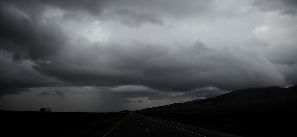 . Huge monsoon storm clouds form over Needles CA in the high deserts today Sunday. Aug 25,2013. Photo by Gene Blevins/LA Daily News