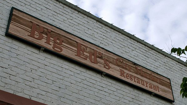 Sign above Big Ed's in City Market, Raleigh.