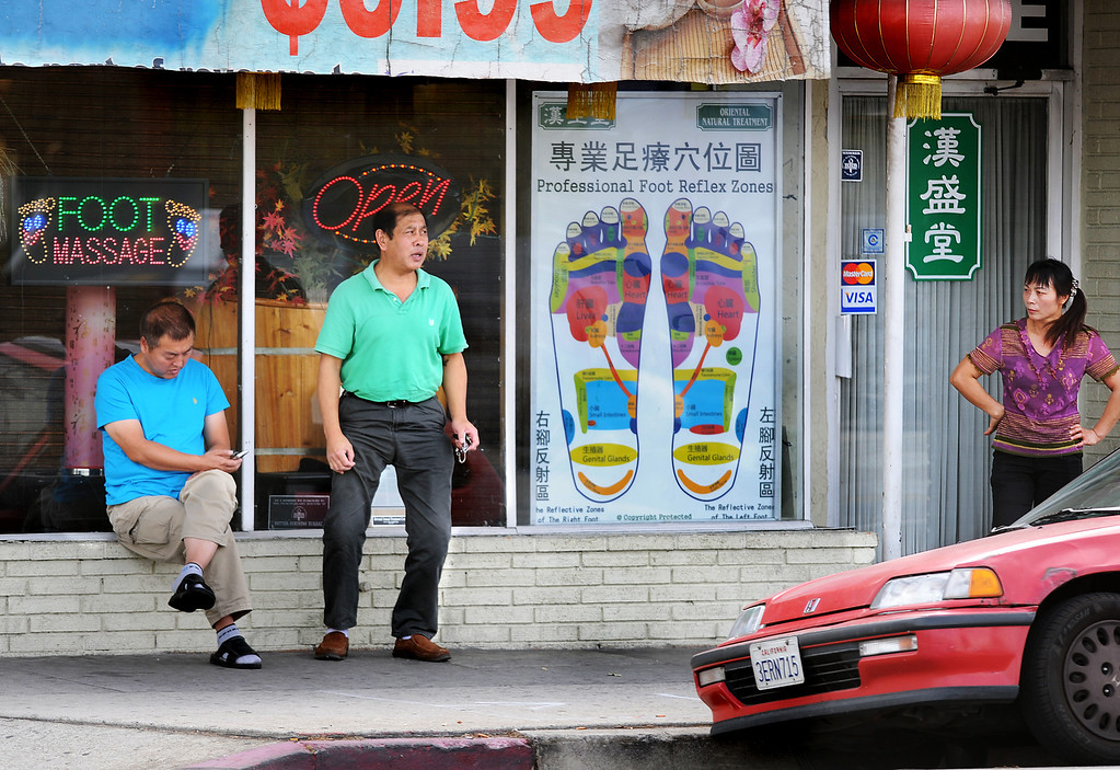 . Massage establishments in the 500 block of Valley Boulevard in San Gabriel. City of San Gabriel received a report on massage establishments and  there are 52 of them in the small city Thursday, November 7, 2013. Photo by Walt Mancini/Pasadena Star-News)