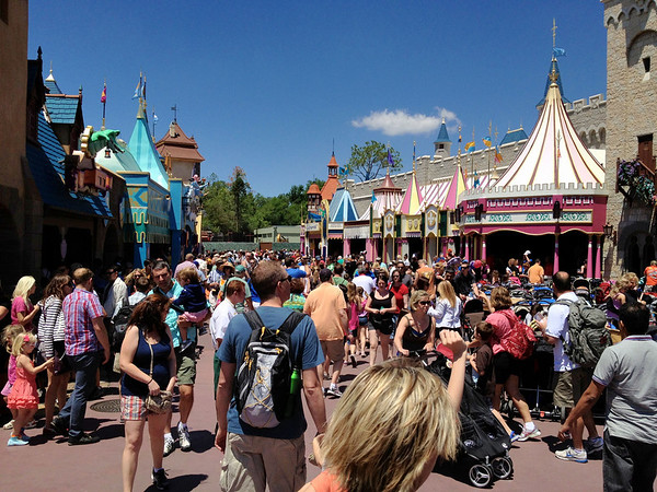 Magic Kingdom Fantasyland Crowds