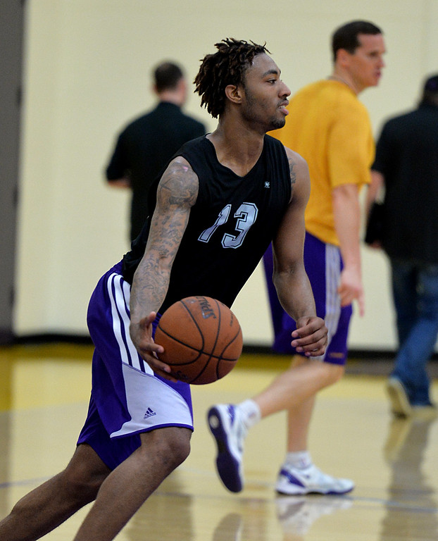 . Lakers pre-draft workout at Toyota Sports Center Wednesday June 4, 2014. James Young, Kentucky.      Photo By  Robert Casillas / Daily Breeze