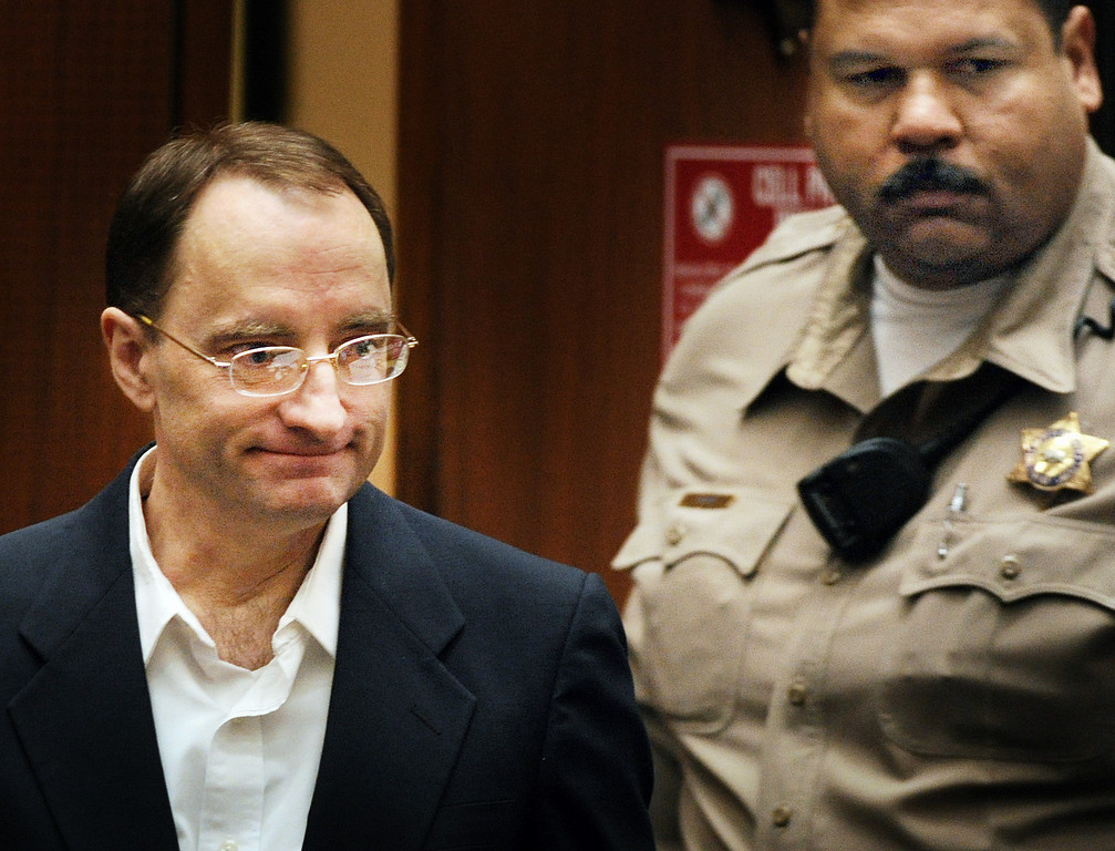 . Christian Karl Gerhartsreiter, entering courtroom  at Clara Shortridge Foltz Criminal Justice Center in Los Angeles Tuesday,  April 2, 2013. He has pleaded not guilty to the killing of John Sohus, 27, who disappeared with his wife, Linda, in 1985 while Gerhartsreiter was a guest cottage tenant at the home of Sohus\' mother, where the couple lived. (Photo by Walt Mancini/SGVN)