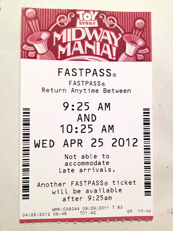 Toy Story Mania FastPass - Disney's Hollywood Studios