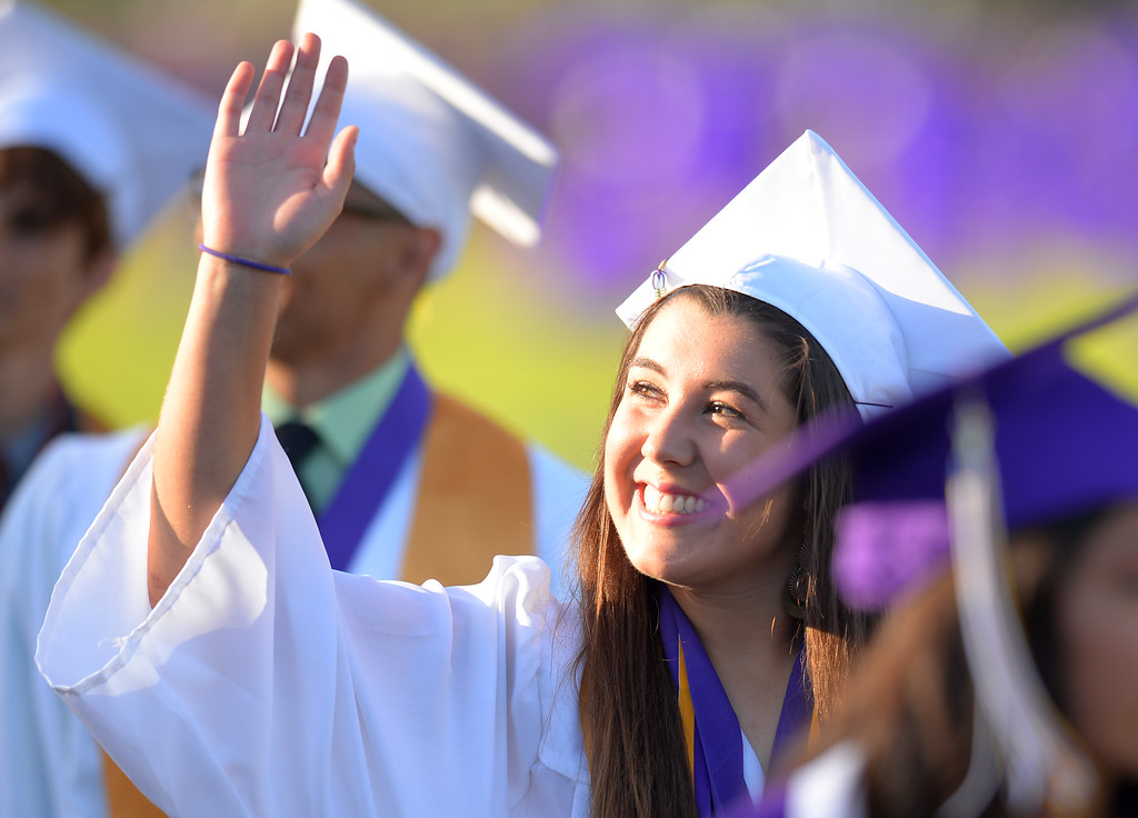 . Norwalk High School\'s graduating class of 2014 goes through their commencement ceremony at Excelsior High School\' football stadium in Norwalk, CA on Tuesday, June 17, 2014. (Photo by Scott Varley, Daily Breeze)
