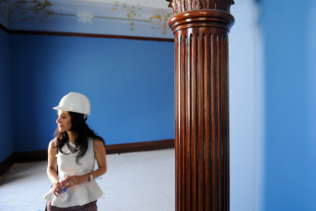 . Gallery Director Annette Vartanian stands in a reading room during a tour of Glendale�s historic Brand Library & Art Center during the final stages of its 18-month remodel. Tuesday, July 23, 2013. (Michael Owen Baker/L.A. Daily News)
