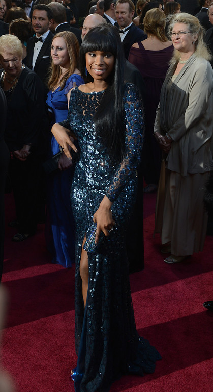 . Jennifer Hudson arrives at the 85th Academy Awards at the Dolby Theatre in Los Angeles, California on Sunday Feb. 24, 2013 ( Hans Gutknecht, staff photographer)