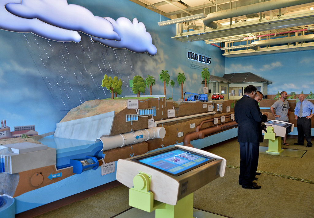 . 0917_NWS_TDB-L-HYPERION-- Los Angeles Mayor Eric Garcetti was on hand to open new Environmental Learning Center at Hyperion treatment plant in Playa Del Rey. ELC Exhibits.  20130916 - Playa Del Rey, CA --  Photo by : Robert Casillas / DAILY BREEZE