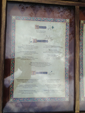 Disney's Be Our Guest Restaurant Menu