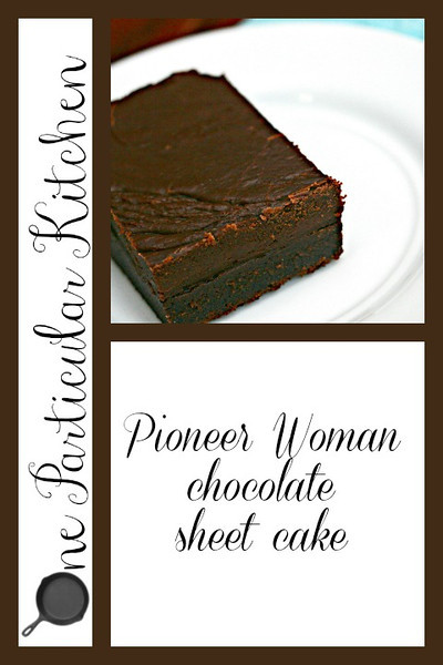 Pioneer Woman chocolate sheet cake