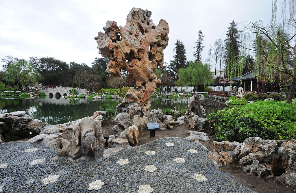 Description of . Chinese Garden at The Huntington in San Marino Friday, February 28, 2014. (Photo by Walt Mancini/Pasadena Star-News)