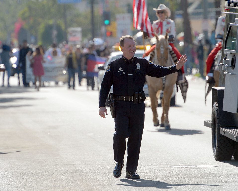 . The 26th Annual Martin Luther King, Jr., Peace & Unity Parade Saturday, January 18, 2014, Long Beach, CA.   Long Beach Police Chief Jim McDonnell. Photo by Steve McCrank/Daily Breeze
