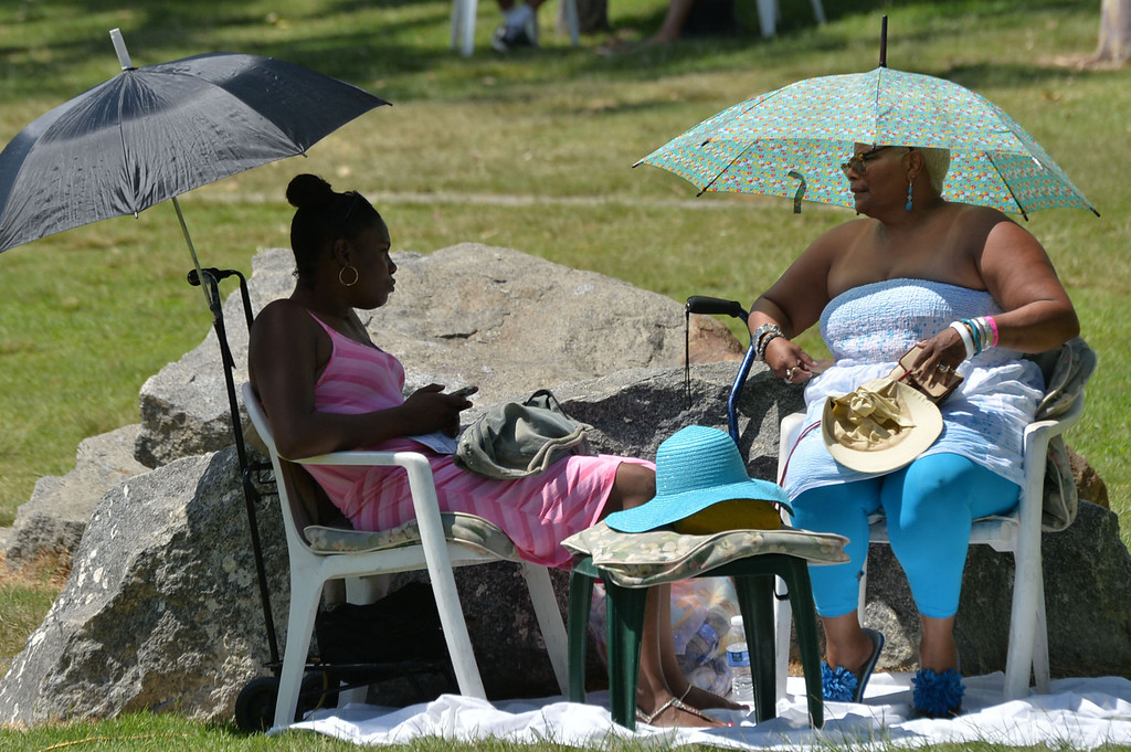 . The 17th Annual Original Lobster Festival at Rainbow Lagoon Sunday, September 08, 2013, in Long Beach.  Festival goers sought shade from umbrellas on a hot, but not as hot as Friday, Sunday. Photo by Steve McCrank / Daily Breeze