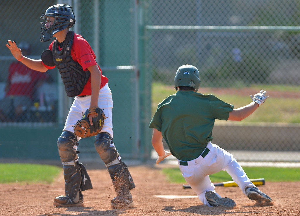 . 0710_SPT_TDB-L-PV-SOUTH-- 20130709 - Torrance, CA --Daily Breeze Staff Photo: Robert Casillas / LANG --- South Torrance vs Palos Verdes in South Bay Summer Baseball League game at South.