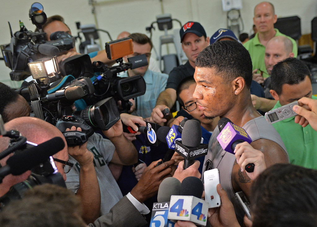 . Lakers host potential draft picks for workouts at Toyota Sports Center in El Segundo Friday June 20, 2014.  Marcus Smart / Oklahoma St.    Photo By  Robert Casillas / Daily Breeze