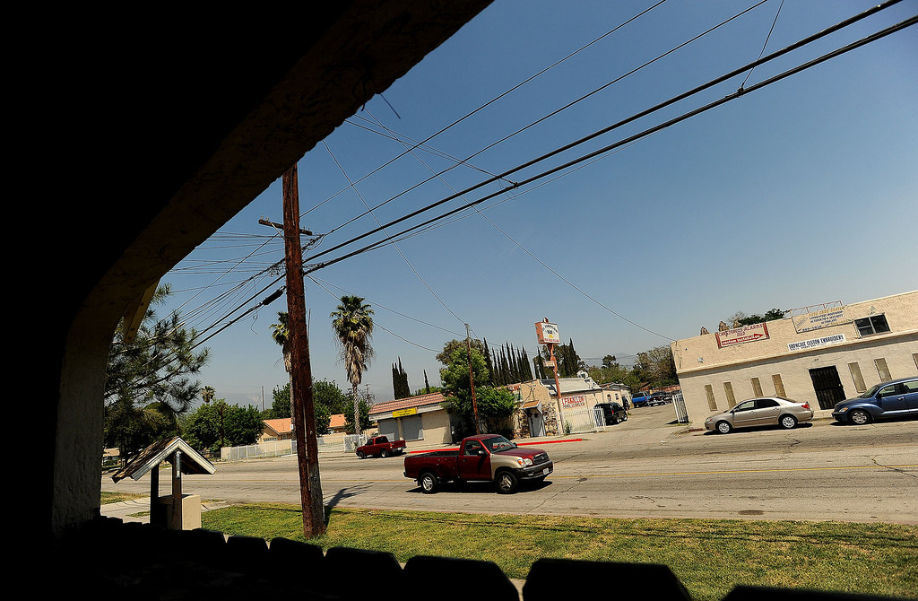 . A view of the 1200 block of North Sierra Way in San Bernardino April 22, 2013.   GABRIEL LUIS ACOSTA/STAFF PHOTOGRAPHER.