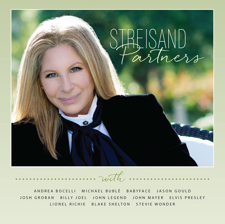 ". This CD cover image released by Columbia Records shows ""Partners,\"" by Barbra Streisand. Streisand is making history with her new album. Billboard says Streisand�s latest release, �Partners,� debuted on top of the charts, making her the only recording artist to issue No. 1 albums in six consecutive decades. (AP Photo/Columbia Records,File)"