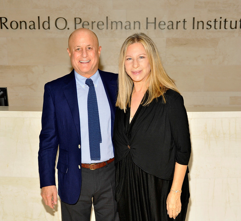 . Ronald O. Perelman and Barbra Streisand visit the Ronald O. Perelman Heart Institute at New York Presbyterian Hospital on September 20, 2012 in New York City.  (Photo by Joe Corrigan/Getty Images the Ronald O. Perelman Heart Institute)
