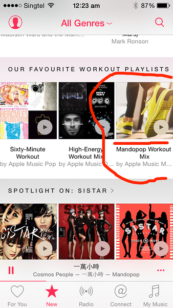 Apple Music and Mandopop and Cantopop