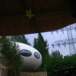 flying saucer under the high voltage lines