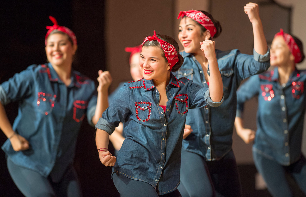 Description of . Pioneer High School presents a preview of its 50th annual Titanette Revue entitled Luv to Dance at the Whittier campus April 17, 2013.   (SGVN/Staff photo by Leo Jarzomb)